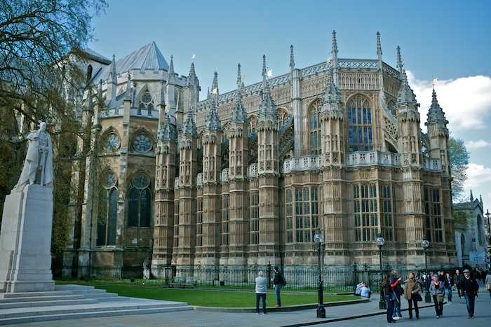 The backside of the Westminster Abbey