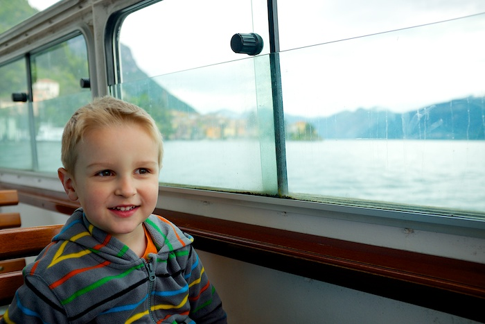 Cruising across Lake Como to Menaggio