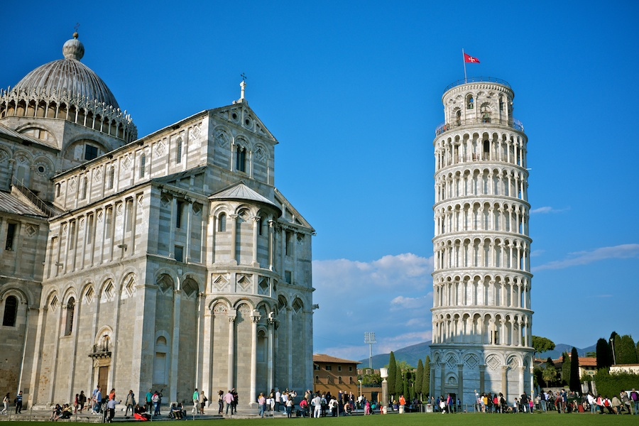 The Piazza del Duomo and the Leaning Tower