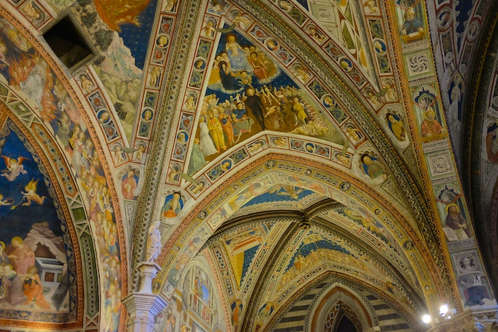 Ceiling frescoes in the baptistry