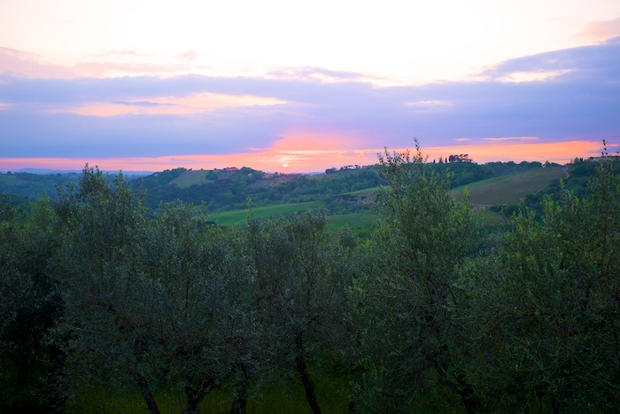 A simple Tuscan sunset