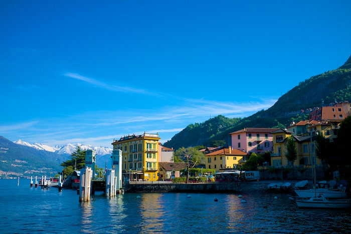 Morning sun working its magic on Varenna's port