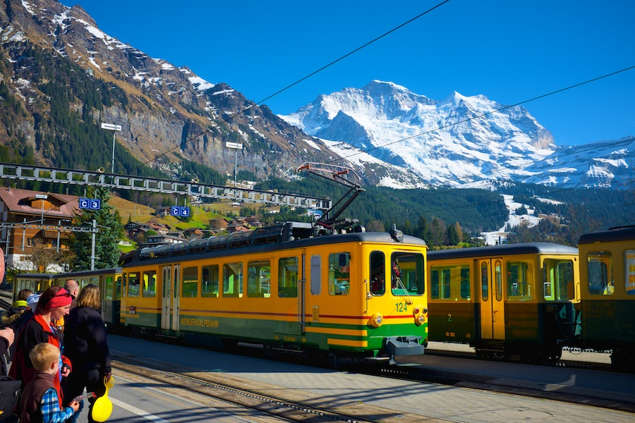 These mountain trains are some of the most picturesque